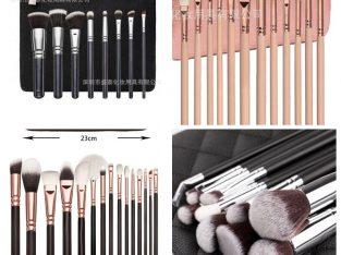 Makeup brush set of 15pcs.