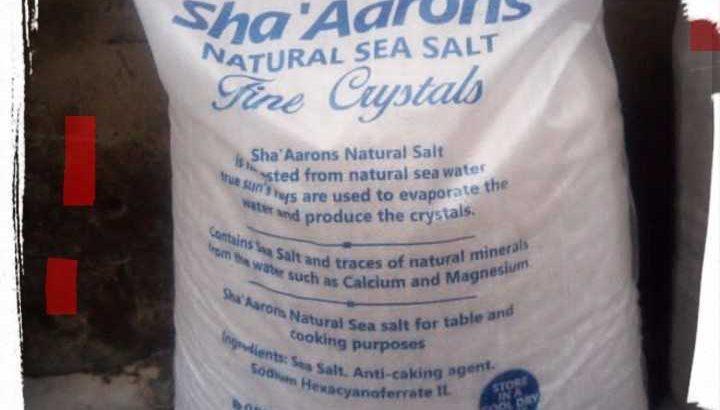 Natural Pure Sea Salt Available At Sha'Aaron Stores