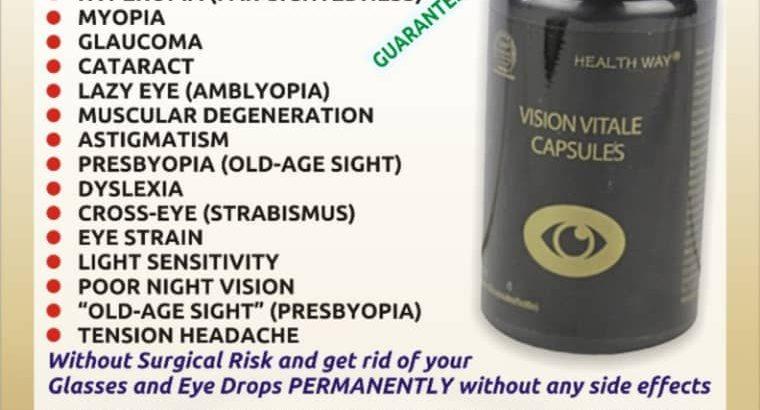 Vision Vitale Capsules. Cure Glaucoma Cataracts.