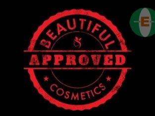 Beautiful cosmetics powder palette, foundation,